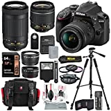 Photo : Nikon D3400 with AF-P DX NIKKOR 18-55mm f/3.5-5.6G VR + Nikon AF-P DX NIKKOR 70-300mm f/4.5-6.3G ED Lens + 64GB, Deluxe Accessory Bundle and Xpix Cleaning Accessories