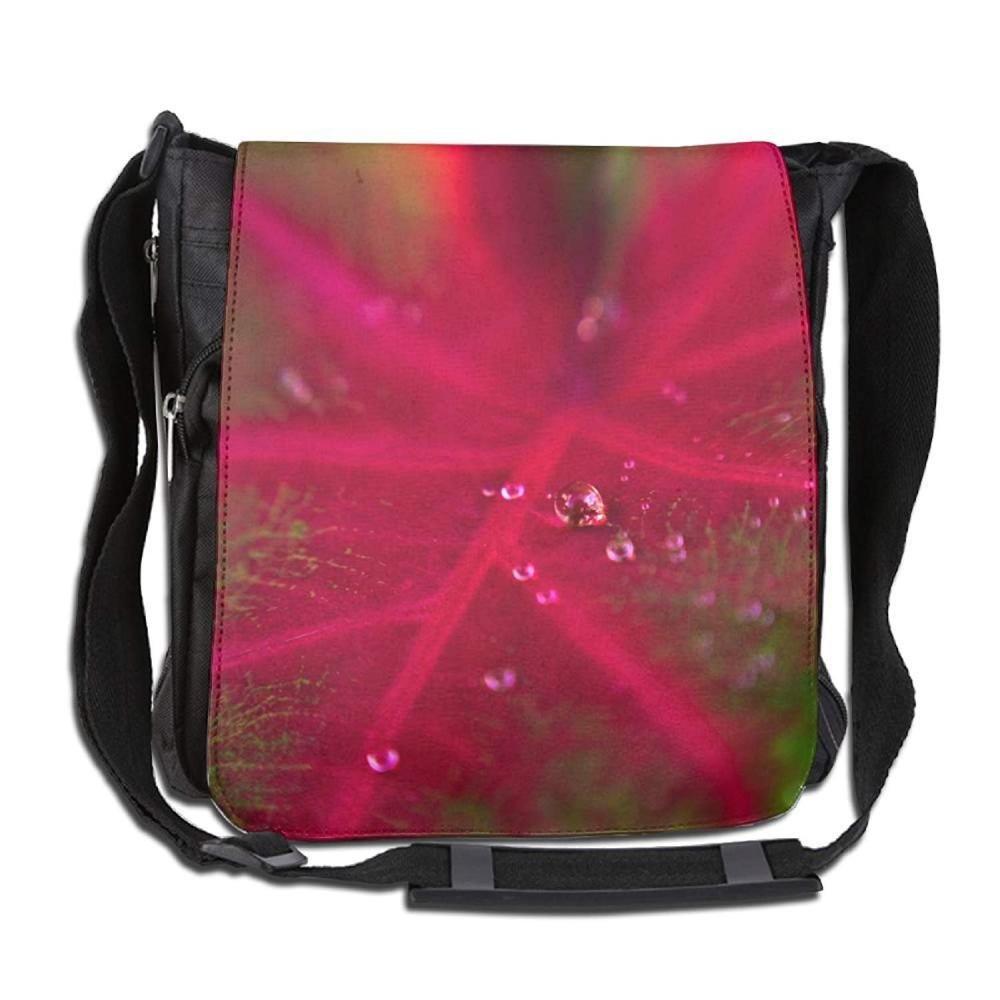 Red Caladium Fashion Print Diagonal Single Shoulder Bag
