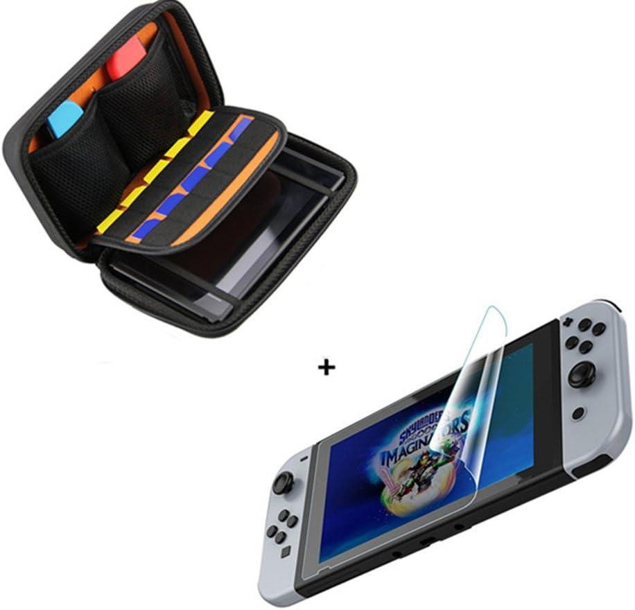 Funda para Nintendo Switch - Bolsa de goma EVA Rígida Case de Chickwin en NEGRO para la Nintendo Switch y sus Accesorios + protector de la pantalla * 1 (10 Cartuchos de juego): Amazon.es: Electrónica