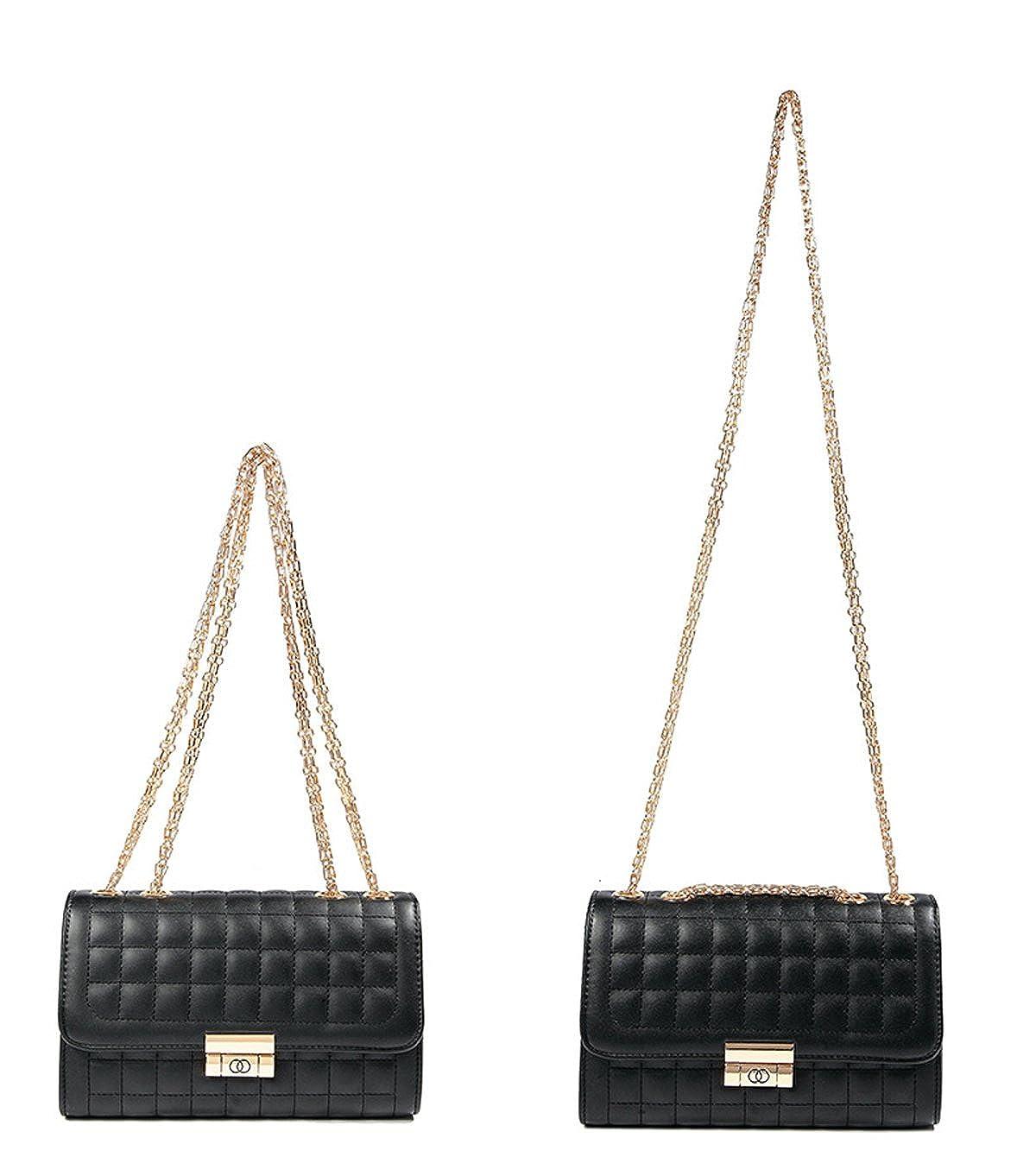 ee475c0d6 Amazon.com: Women's Classic Quilted Crossbody Purse Shoulder Bags Golden  Chain Satchel Handbags (Beige): Shoes