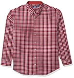 IZOD Men's Big and Tall Button Down Long Sleeve Stretch Performance Plaid Shirt Reviews