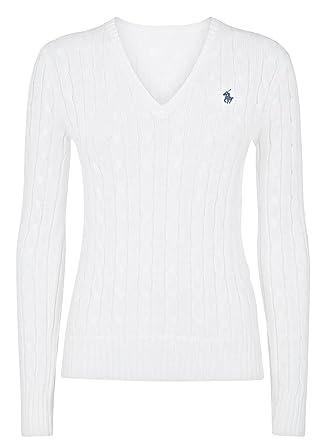 Ralph Large Polo Lauren Women's Classic White Jumper OwPkZilXTu