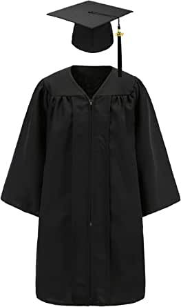 Chococolate Child Size Graduation Cap and Gown Package