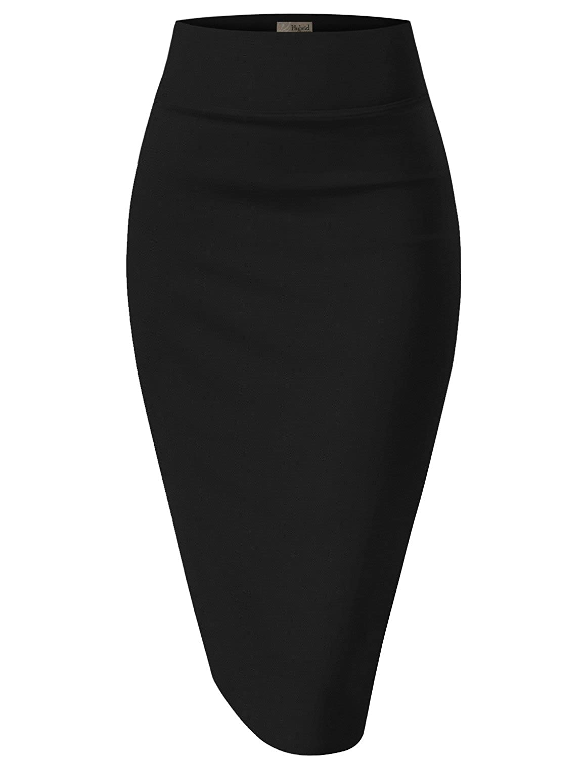 HyBrid & Company H&C Women's Elastic Waist Stretchy Office Pencil Skirt Made In USA