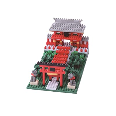 Kawada NanoBlock - NBH-108 - Inari Shrine Micro Block Sights to See Puzzle (530 Piece): Toys & Games