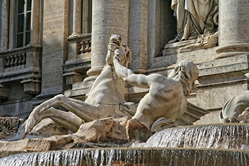 LAMINATED POSTER Trevi Fountain Sculpture Italy Rome Water Poster