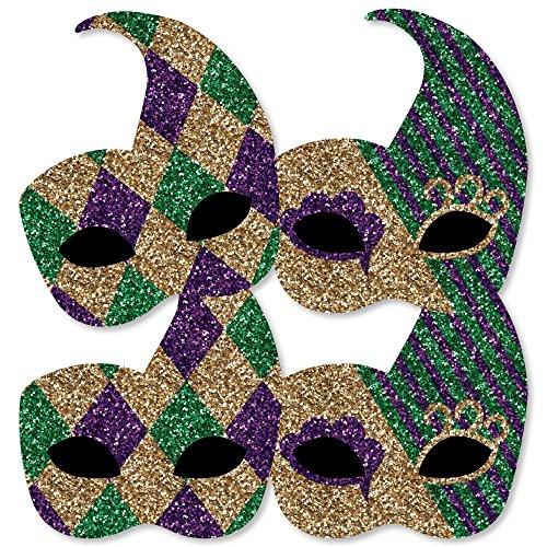 Mardi Gras - Mask Decorations DIY Masquerade Party Essentials - Set of (Masquerade Party Theme)