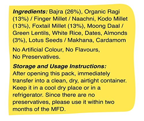 Early Foods - Organic Sattu Maavu - Multi-grain Porridge mix 200g - Indian Baby Foods, Vegan Baby Food, 100% Plant Based by EARLY FOODS (Image #2)