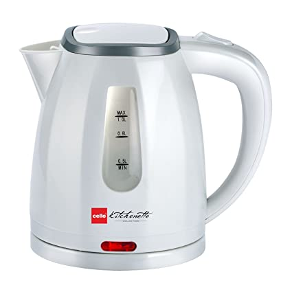Cello Electric Kettle 1 Ltr 600 B, 1200W, White