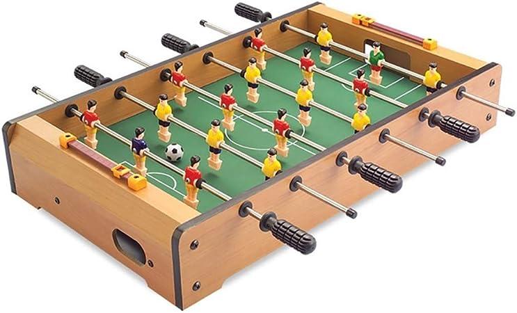 Futbolines Tabla del fútbol de los niños/futbolín/foozeballs Bolas de Mesa/ futbolín/Seis Polos futbolín/Mesa de Juego interacción (Color : Wood Color, Size : 48 * 28 * 8.2cm): Amazon.es: Hogar