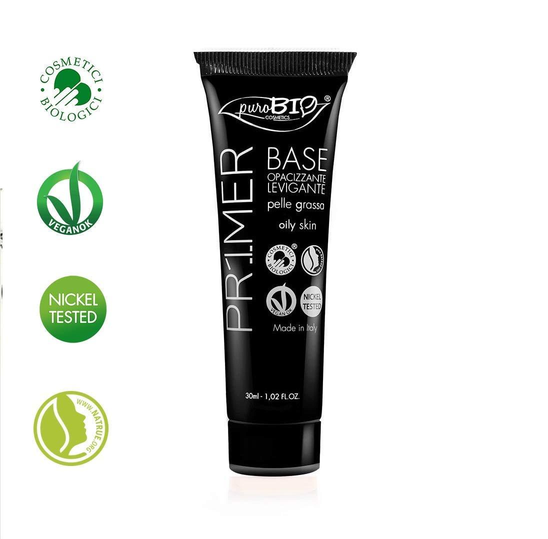 PUROBIO - Primer Viso per Opacizzante e Levigante per Pelle Grassa - Biologico, Vegan, Senza Glutine, Nickel Tested, Made in Italy Yumi Bio Shop