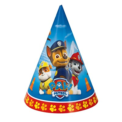 Unique Industries, Paper Party Hats, Party Supplies - Paw Patrol, Pack of 8: Toys & Games