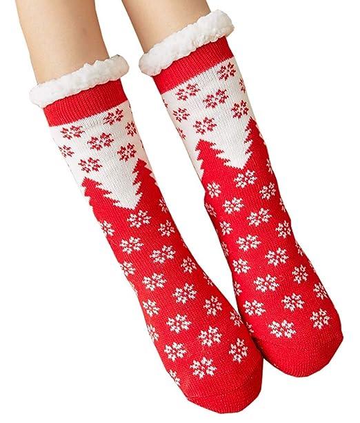 Calcetines de piso para espesar, calcetines de lana para el hogar, calcetines cálidos de otoño e invierno para mujeres, A2: Amazon.es: Ropa y accesorios