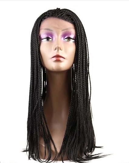 TOUFA Largo clásico Rizado Vestido Partido Pelucas para Mujer Negra con Peluca Cap Negro Poco Sucio