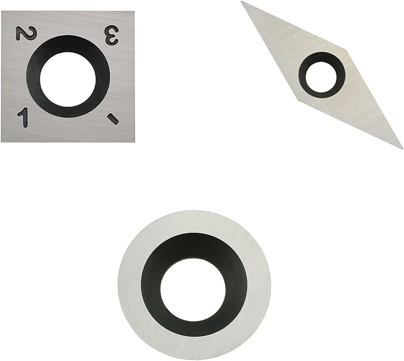 Round Carbide Replacement Cutter Insert 15mm For Woodturning Tools,3pcs