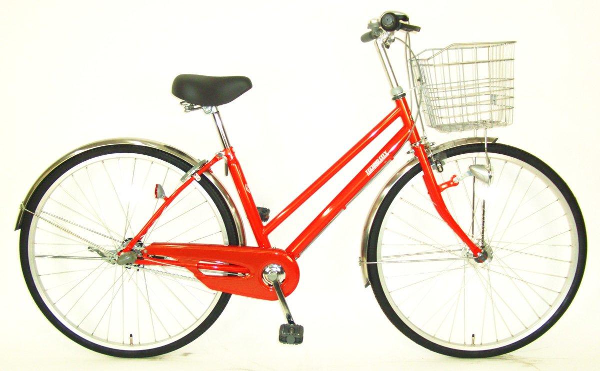 C.Dream(シードリーム) テクノシティオートライト TC73-H 27インチ自転車 シティサイクル オレンジ 3段変速 100%組立済み発送 B078YL1SVP