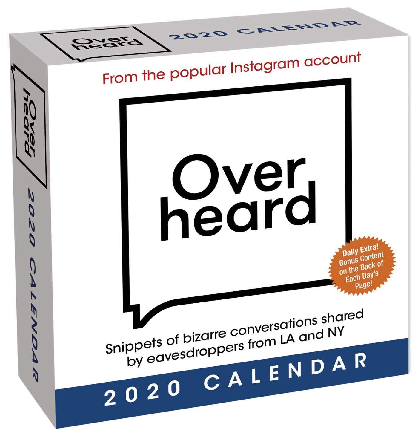 Amazon com: Overheard 2020 Day-to-Day Calendar