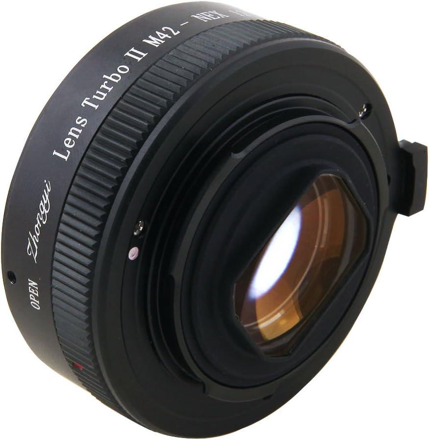 Zhongyi Mitakon Turbo II Focal Reducer Booster Adapter Canon EF EOS Lens to Sony E NEX Camera