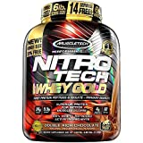 MuscleTech NitroTech Whey Gold, 100% Pure Whey Protein, Whey Isolate and Whey Peptides, Double Rich Chocolate, 6 Pounds