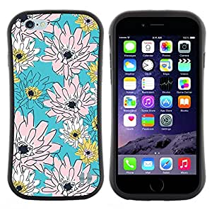 "Hypernova Slim Fit Dual Barniz Protector Caso Case Funda Para Apple (5.5 inches!!!) iPhone 6 Plus / 6S Plus ( 5.5 ) [Rosa del estampado de flores del papel pintado""]"