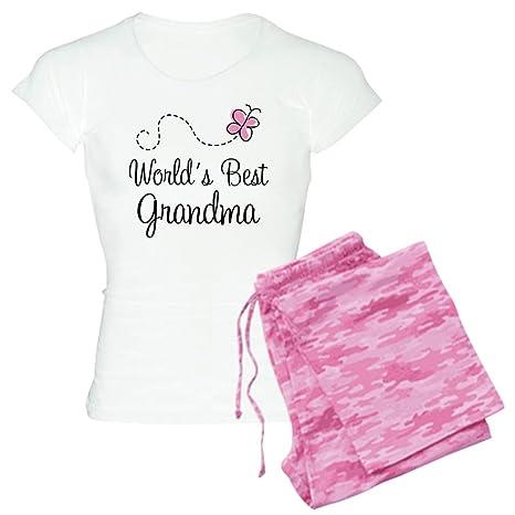 57d407073c01 CafePress - World s Best Grandma Women s Light Pajamas - Womens Novelty  Cotton Pajama Set