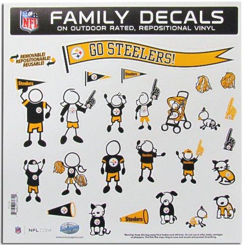 NFL Pittsburgh Steelers grande juego de etiqueta familia