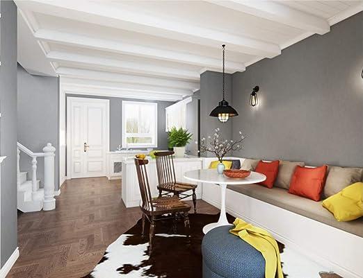 Papier peint moderne série grise minimaliste mur de soie ...