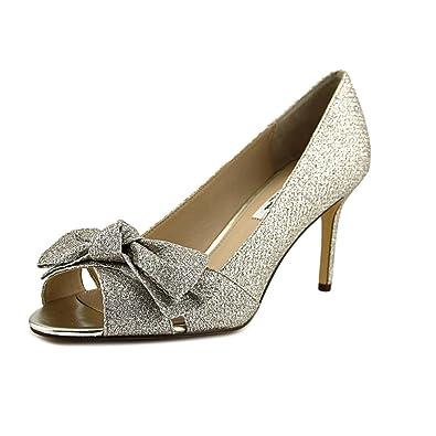 2ea9169b7 NINA Women's Forbet Soft Platino Diamond Glitter Mesh 7.5 M ...