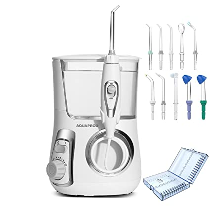 Irrigador Dental y Nasal de 800ml Capacidad Irrigador Oral Eléctrico con 10 Boquillas Impermeable Irrigador Bucal