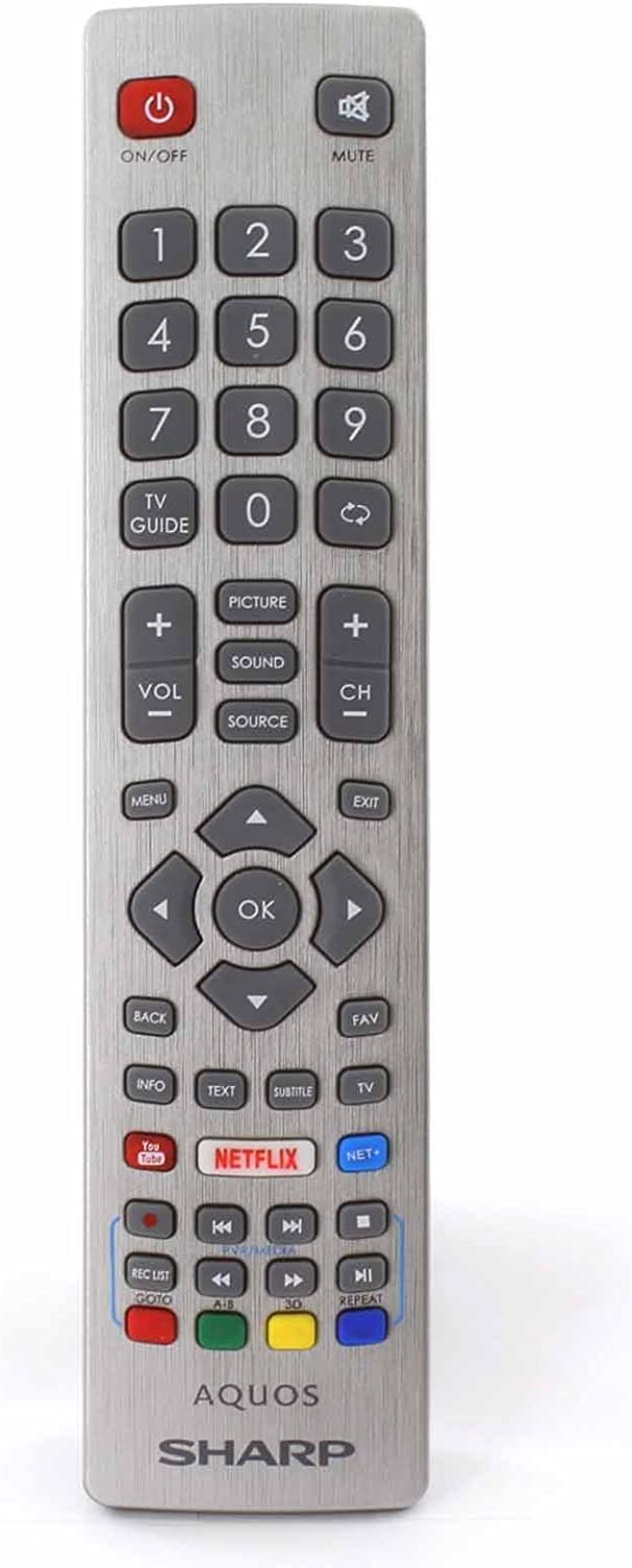 Control Remoto para Sharp Aquos Smart TV with Netflix Youtube and 3D Buttons: Amazon.es: Electrónica
