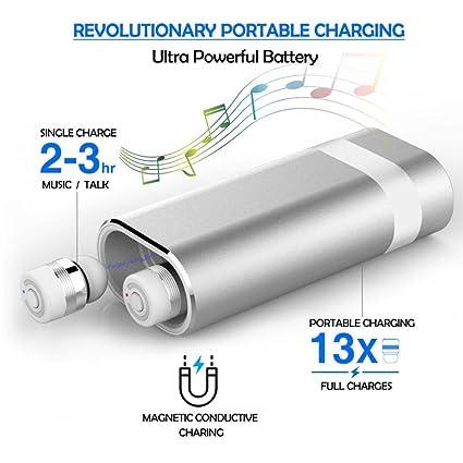 True Wireless Earbuds, Portable Power Bank with Bluetooth In-Ear Earbuds Stereo Earphones (