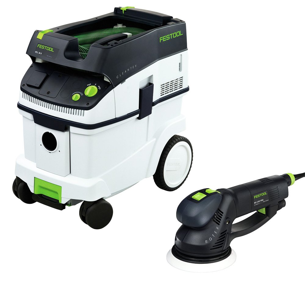 Festool RO 150 FEQ 6 Dual Mode Rotex Sander with T-Loc CT 36 Dust Extractor Package