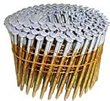 Hitachi 12701 2-3/8'' x .099 RG Full Round Head Hot Dipped Galvanized Wire Coil Framing Nails (5000 Count)