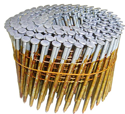 2-1/2 in. x 0.131 in. Full Round-Head Ring Shank Hot-Dipped Galvanized Wire Coil Framing Nails (4,000-Pack)