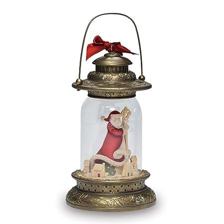 Enesco Heart of Christmas Santa Light from Gregg Gifted Lantern, 9-Inch