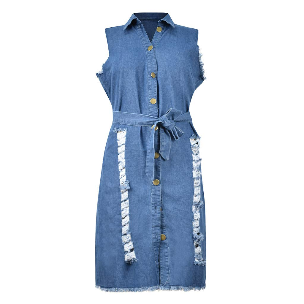 Hemlock Women Jeans Denim Sleeveless Dress Button Down Bodycon Dress Bowknot Party Dress Slim Mini Party Club Dress