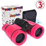 Toys for 4-5 Year Old Girls, Small Compact Binoculars for Kids Birthday Presents for Girls Summer Camp and Outdoor Play Birthday Gifts Party Favors for Kids (Pink)