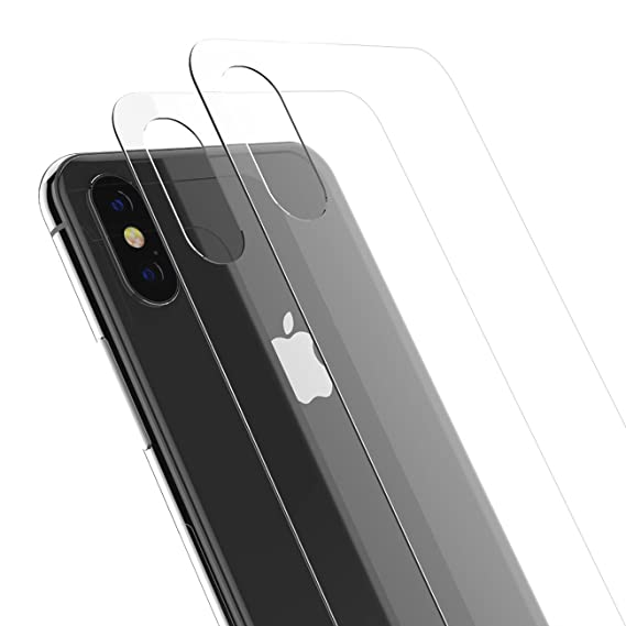 competitive price cecb9 f0b89 iPhone X/XS Back Glass Protector, Kolpop 2.5D iPhone X/XS Tempered Glass  Back Protector, Anti-Fingerprint Case Friendly Anti-Scrath Slim Back Glass  ...