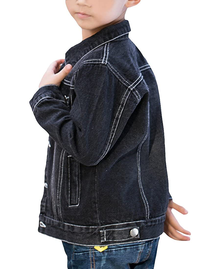 MFrannie Boys Vintage Washed Button Down Autumn Denim Jacket