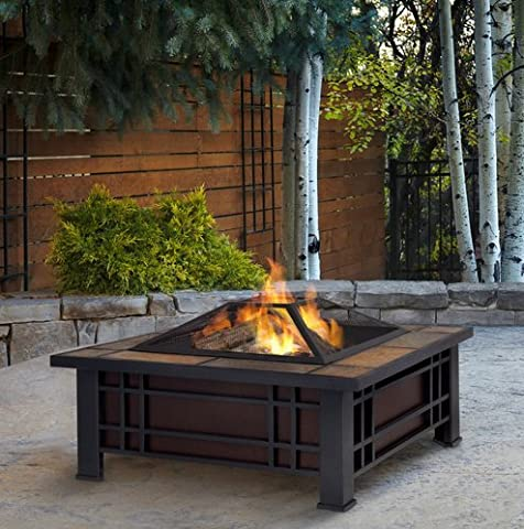 Patio Furniture-Premium® Wood Burning Fire Pit-Patio Fire Pit-Ideal Centerpiece For Keeping Family And Friends Warm And Entertained Outdoors -100% Thrilled Customer (Paver Fire Pit)