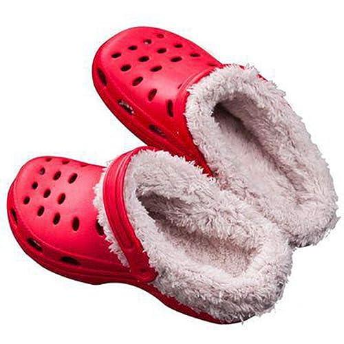 Zapatillas de Invierno Originales para Mujer Zapatos de Zueco de cocodrilo Freesail clásico al Aire Libre Cojín de Felpa Forrado Zapatillas de Deporte ...