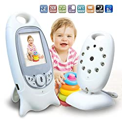 Wewdigi Wireless Video Baby Monitor 2.4GHz Radio Nanny Electronic Night Vision Audio baby Security