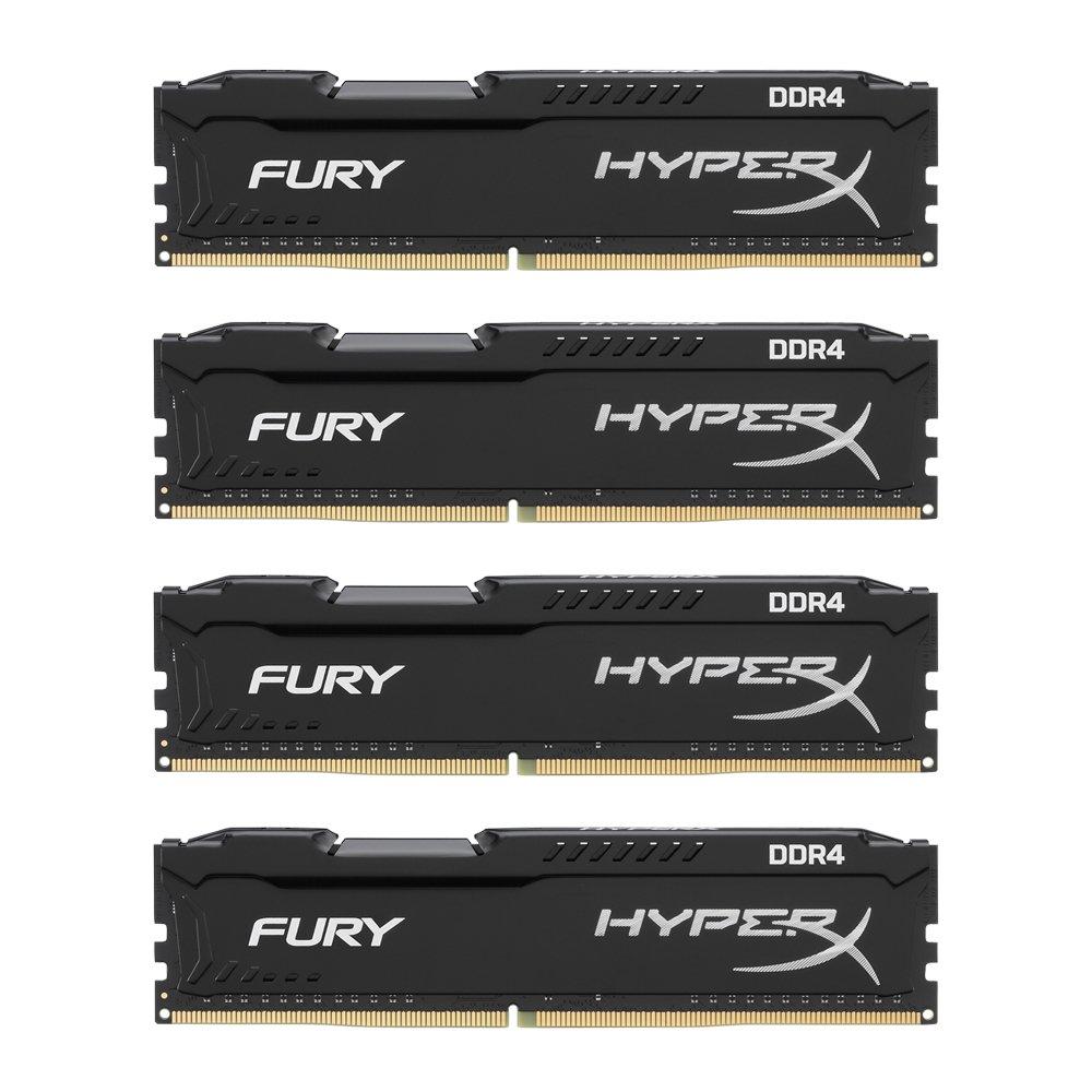 Kingston Technology HyperX FURY Black 32 GB Kit 2133 MHz CL14 DIMM DDR4 Internal Memory (HX421C14FB2K4/32)