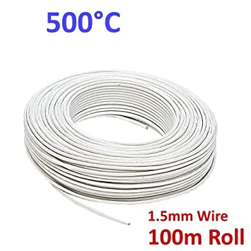 Phenomenal Oven High Temperature Wire 5000 Heat Resistant Glass Fibre Cable Wiring Cloud Oideiuggs Outletorg