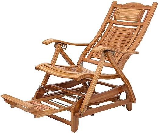 ZXT HZC Sillón reclinable de jardín Sillón reclinable Sillón Exterior de relajación Mecedora de Madera Tumbonas Tumbonas Ajustables for Patio Porche Jardín Césped Camping: Amazon.es: Jardín