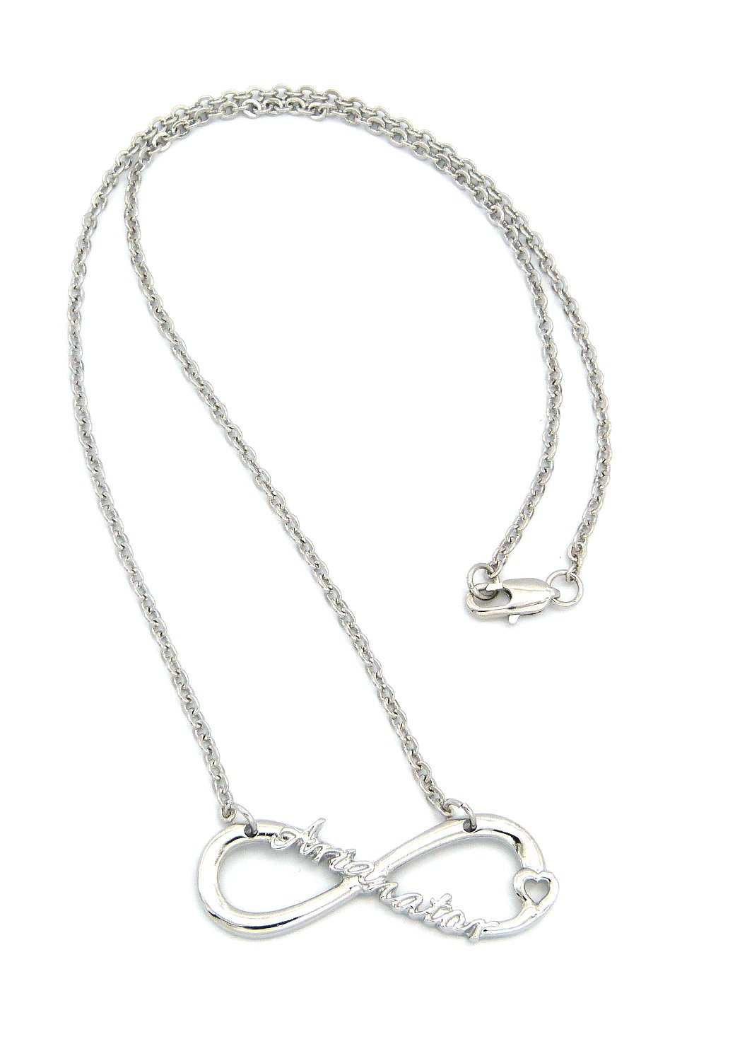 Arianator Fans Infinity Necklace in Silver Tone w/ 18 Link Chain XC472R