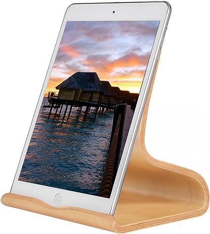 SAMDI Soporte de Madera para iPad, Universal Madera Tablet PC ...