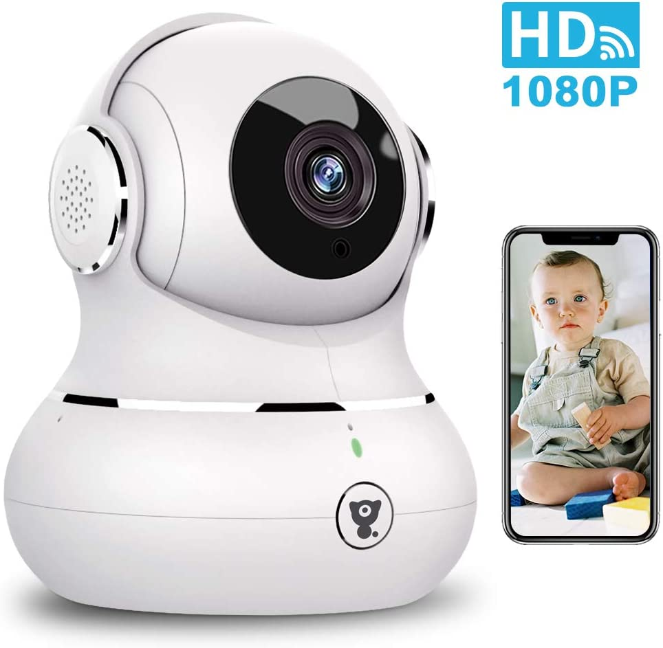 WiFi Camera Indoor, Littlelf Smart 1080P Home Camera Wireless Security Pet Camera IP Camera Baby Monitor with Motion Detection, 2-Way Audio, Night Vision and Cloud Service, Works with Alexa
