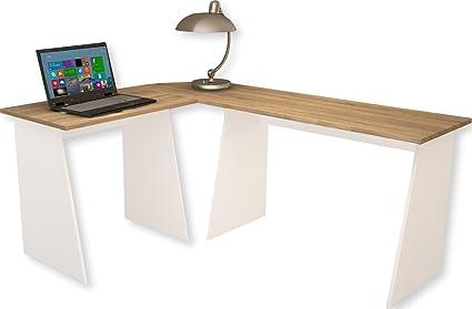 Vcm masola bureau d angle bois blanc cm