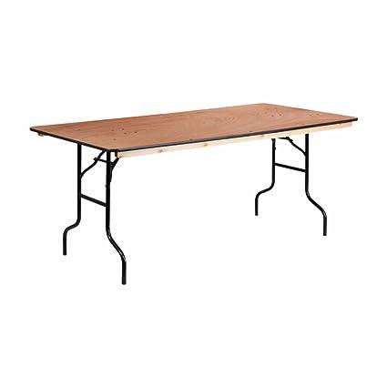 Amazoncom Offex 36 X 72 Rectangular Wood Folding Banquet Table